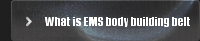 What is EMS body building belt